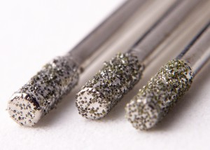 2 mm drill bits coated with diamonds (Source: Wikipedia)