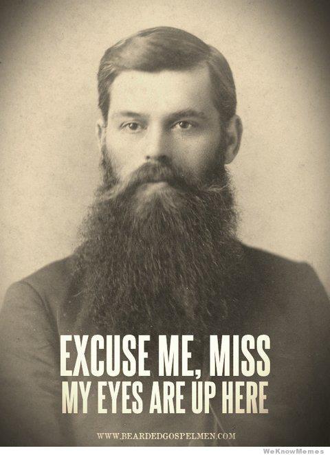 That's a big, beautiful, poop-free beard.