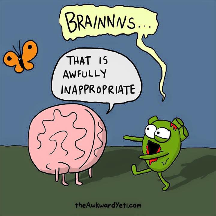 """Smart fat cells""-  like little zombies headed straight for brain tumors. Mmmmm."